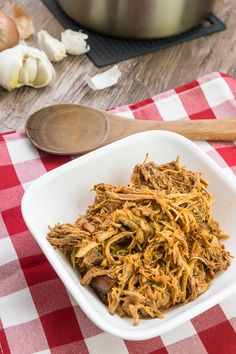 Mouthful of boldly sweet, salty, and spicy juice ooze out of moist and tender pulled pork. Irresistible! NomRecipes.com