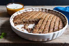 Baked kibbeh (kibbeh bil sayneeyeh)