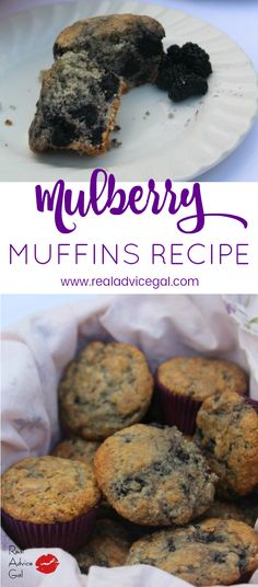 Moist and tasty! You have to try this Mulberry Muffins Recipe. Fruit Recipes, Muffin Recipes, Dessert Recipes, Cooking Recipes, Yummy Recipes, Recipies, Yummy Treats, Sweet Treats, Yummy Food