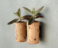 Wine corks into magnets