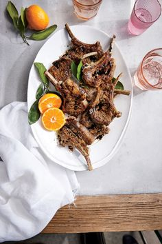 Orange Balsamic Lamb Chops - A simple citrus marinade plus a quick sear yields significantly more flavor than you might think. Of course, a finishing balsamic drizzle is always Easy Mediterranean Diet Recipes, Mediterranean Dishes, Ways To Eat Healthy, Healthy Eating, Healthy Recipes, Clean Eating, Healthy Dinners, Lamb Dinner, Dinner Menu