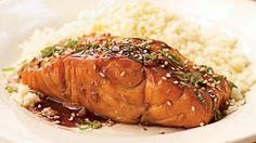 Bourbon-Glazed Salmon