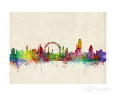London Skyline Impressão fotográfica