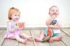 How cute are these outfits from Woolworths!?  Our weather has been so unpredictable, and the last few days extra hot. The perfect time for eating watermelon and swimming al day long. Jax little  neigbour, Mila, came to visit and I decided to snap a few pics of these cuties eating watermelon. I've been seeing the watermelon...