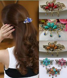 Mother & Kids Delicious New Trendy Women Hair Clip Unique Peacock Feather Rhinestones Women Lady Party Hair Clip Pin Head Hairpin For Girl Gift #48 Hair Accessories