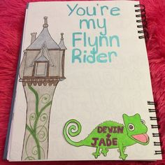 You're my Flynn Rider <3 A page I made for Devin's smashbook/scrapbook <3