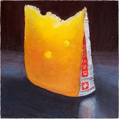 Appenzeller is a beautiful Swiss cheese with a lil kick.  This image was painted as part of a commission series of 12, which will become a great calendar! Prints available here: http://mikegeno.com/cheese%20album/pages/Appenzeller_matted_PRINT.htm