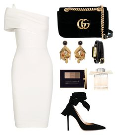 """""""Untitled #63"""" by tazkiasaras ❤ liked on Polyvore featuring Michelle Mason, Gucci, Gianvito Rossi, Lizzie Fortunato, McQ by Alexander McQueen, Yves Saint Laurent and Chloé"""