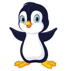 Cartoon baby penguin vector image on VectorStock Cartoon Drawings Of Animals, Cartoon Fish, Baby Cartoon, Cute Cartoon, Penguin Images, Penguin Art, Cute Baby Penguin, Baby Animals, Cute Animals