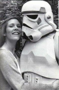 Carrie with Stormtrooper