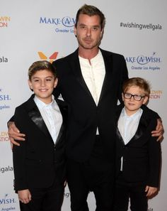 Gavin Rossdale takes his boys Kingston and Zuma to the Wishing Well Winter Gala on December 7, 2016