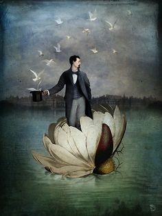 """As from a mass of flowers  many a garland may be made,  so by one born mortal  should many good deeds be done.""  Buddha   [The Gentleman by ChristianSchloe]"