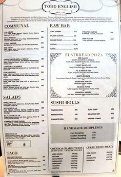 todd english food hall menu