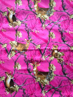 """Valance 42""""x15"""" panel """"Pink Camo Deer"""" by CountrySnuggles on Etsy"""