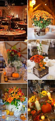 Fall wedding decor ideas autumn fall wedding centerpieces pumpkins fall in love with these great fall wedding ideas junglespirit Gallery