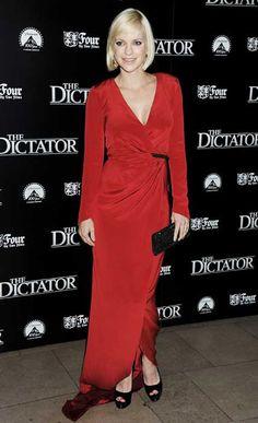 Pregnant Anna Faris, Sacha Baron Cohen at The Dictator premiere