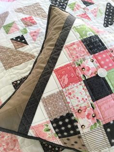 """Carried Away Quilting: Mini Charm Pack Tutorial: """"On Point Pillow"""" with Olive's Flower Market"""
