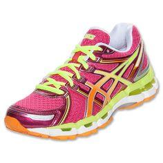 Women's Asics GEL-Kayano 19 Running Shoes| FinishLine.com | Raspberry/Mango/Lime