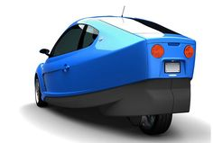 Two-seat all-electric DUO vehicle by Myers Motors.