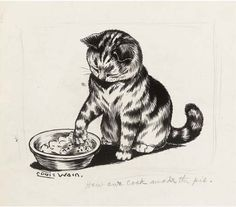 Louis Wain, 'How our cook made the pie'
