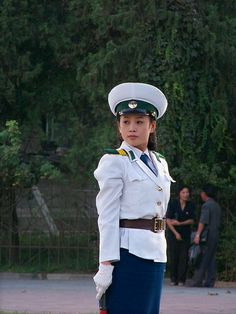 Traffic Girl Close up Pyongyang