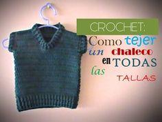 Crochet Coat, Diy Crochet, Vest Coat, Crochet Baby Clothes, Crochet Videos, Crochet For Beginners, Baby Sweaters, Pullover, Knitting