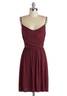 Well How Do You Do? Dress in Burgundy, #ModCloth
