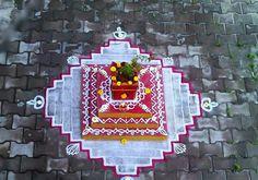 Rangoli Designs Flower, Beautiful Rangoli Designs, Festival Quotes, Water Flowers, Beauty Hacks, Beauty Tips, Telugu, Holiday Decor, Festivals