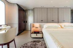 Problem: minimal square footage modern bedroom, home bedroom, hotel bedroom Best Interior Design, Interior Design Studio, Luxury Interior, Yacht Interior, Home Bedroom, Modern Bedroom, Bedroom Decor, Luxurious Bedrooms, Bed Design