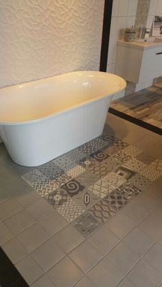 Europe Mix & Concret 180x180 by Natucer - Available from Tile Warehouse, Freestanding Monaco Bath by Robertons