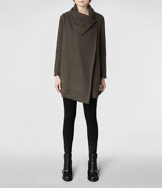Womens Vana Coat (Khaki) | ALLSAINTS.com US 4 or 6