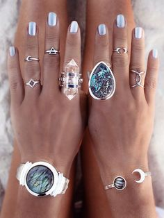 Boho rings bracelet jewelry accessories. For more follow www.pinterest.com/ninayay and stay positively #inspired