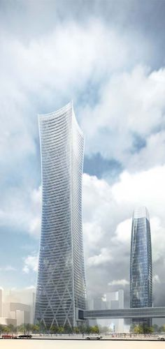 Poly International Tower , Chengdu, China by Skidmore Owings & Merrill (SOM) Architects