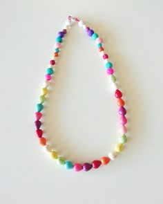 colourfull necklace Macrame Bracelets, Jewelery, Beaded Necklace, Spring Summer, Photo And Video, Instagram, Jewlery, Jewels, Pearl Necklace