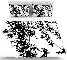 duvet cover white with black - Google Search
