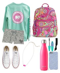 """""""School outfit"""" by jadenriley21 on Polyvore featuring Kendra Scott, S'well, Converse, Vera Bradley, Maybelline and Splendid"""