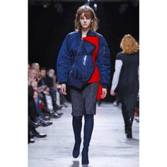 """""""Lutz Huelle's fall effort intrigued with unusual volumes and clin d'œil effects.""""Paulina Szmydke on WWD  """