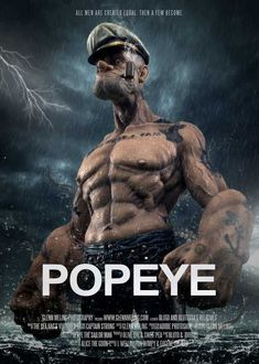 Popeye returns in a CG feature film featuring many of the series favorite characters like dainty Olive Oyl, rambunctious Swee'Pea, herculean Bluto, and of course, the unconquerable Popeye the Sailor Man. Comic Kunst, Cartoon Kunst, Cartoon Art, Cartoon Characters, Comic Books Art, Comic Art, Popeye Movie, Bd Art, Popeye The Sailor Man