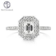 1.16ct Emerald Cut Diamond Engagement Ring SKU: 3745-1