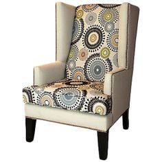 eclectic home wingback | for Every Lifestyle - Nicholas Wing Chair, Crème made by Eclectic ...