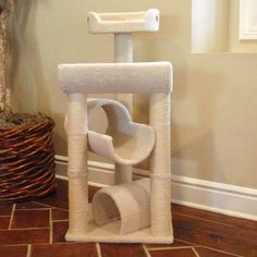 "Majestic Pet 44"" Bungalow Sherpa Cat Tree"