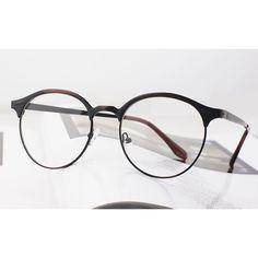 Nerd Brille filigran rund Glasses Klarglas Hornbrille treber tom retro e1502 TGS