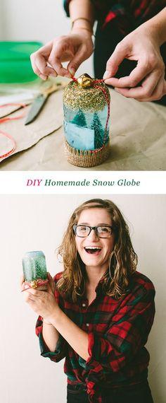 Diy Homemade Snow Globe #ziploc #holidaycollection #diy // Www.jojotastic.com