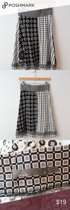 b9f240aff14 prAna Black Whit A Line Geometric Skirt Small prAna A Line Skirt