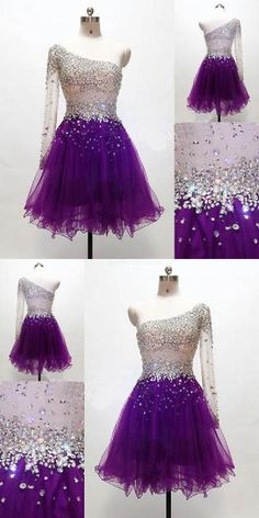 Cheap Enticing Short Homecoming Dress Grape Homecoming Dress,One Shoulder Homecoming Dresses,Tulle Homecoming Gowns,Short Prom Gown,Sweet 16 Dress Short Homecoming Dresses Cheap Prom Dress Homecoming Dresses Prom Dresses Prom Dresses 2019 Champagne Homecoming Dresses, Prom Girl Dresses, Black Bridesmaid Dresses, Dresses Short, Sweet 16 Dresses, Cheap Prom Dresses, Prom Gowns, Dress Prom, Sparkly Dresses