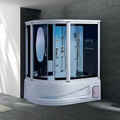 steam shower a165w 9in lcd tv hot tub combo