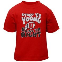Utah Utes Toddler Start 'Em Young T-Shirt - Red