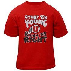 Utah Utes Toddler Start 'Em Young T-Shirt - Red