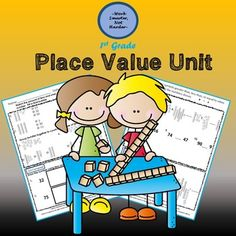 First Grade Place Value Unit Kit Math Activities, Teaching Resources, Teaching Ideas, Math Lesson Plans, Math Lessons, Mastering Math, Math Tools, I Can Statements, Teaching Phonics