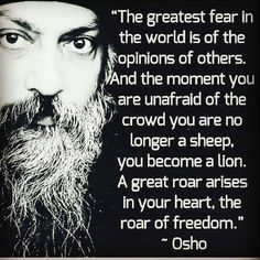 "264 Likes, 2 Comments - Spiritual Love Peace 11:11 (@spirituallism) on Instagram: ""The great words by my favorite. -Osho • Follow my friend @the_higher_self__ ❤ • • •…"""